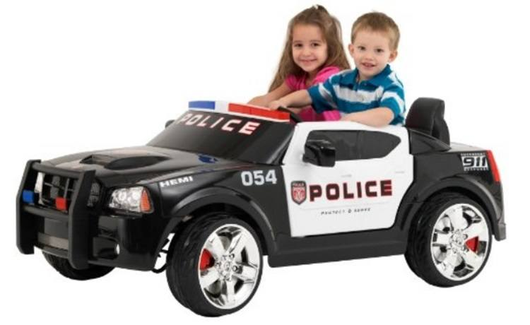 Kid Trax Dodge Charger Police Ride-On Car