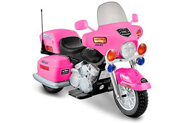 National Products 12V Pink Police Motorcycle for Kids